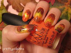 prettypolishes: Fall Inspired Nail Art