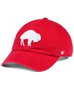 28e2987939fbe  47 Brand Buffalo Bills Clean Up Strapback Cap - Red White Adjustable