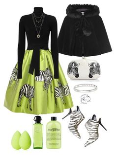 """""""Zebras"""" by loves-elephants ❤ liked on Polyvore featuring Collectif, Stella Jean, Cushnie Et Ochs, Vince Camuto, Serpui, philosophy, Hermès, Messika, Lucky Brand and beautyblender"""