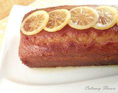 Syrupy Lemon Cake with Candied Lemons  P