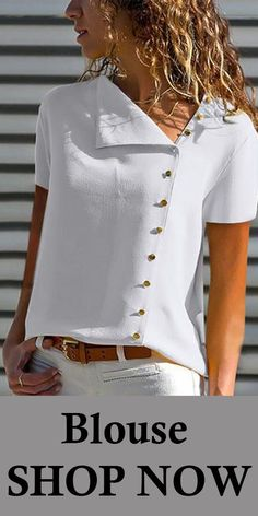 Blouses V Neck Single Breasted Plain Blouses, shop on Ininruby and free shipping on order […] The post Blouses appeared first on How To Be Trendy.