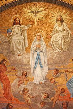 O gloriosa Domina, [Lourdes] Blessed Mother Mary, Blessed Virgin Mary, Religious Images, Religious Art, Catholic Art, Roman Catholic, St Bernadette Soubirous, Miséricorde Divine, Assumption Of Mary