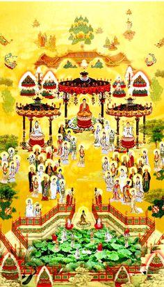 Amitabha and the Pure Land of Sukhavati