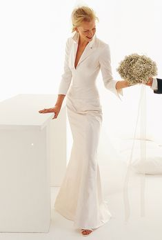 Brides: Le Spose Di Gi�. Long sleeves, mermaid duchess dress. Ideal for fall, and wintery weddings.