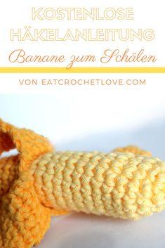Banane häkeln - kostenlose Häkelanleitung - Banane zum Schälen Drops Paris, Knitting Patterns, Crochet Hats, Inspiration, Crochet Cake, Dog Crochet, Fruit And Veg, Breien, Crafting
