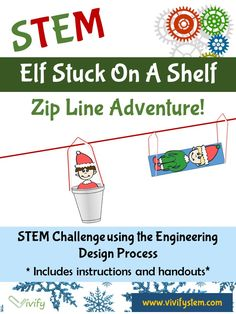 A fun Christmas STEM Challenge for the winter holidays! Students will design a zip line vehicle to save an elf from a high shelf. This hands-on activity is an engaging design challenge that allows students to work in teams, apply the engineering design process, and connect math topics to real-world applications.