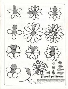 Quilling - picture specimens for crafts, art quills / What is quilling? Paper, patterns, cards and projects. Crafts and art activities, games for kids. Children drawing and coloring pages Arte Quilling, Paper Quilling Flowers, Quilled Paper Art, Quilling Paper Craft, Quilling Instructions, Paper Quilling Tutorial, Paper Quilling Designs, Quilling Ideas, Paper Quilling For Beginners