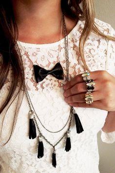 Bowtie Necklace!
