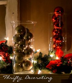 Quick and Easy Christmas Decorations  Christmas candles
