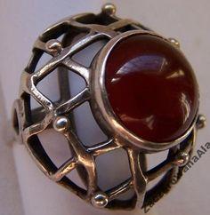 ORNO Z KARNEOLEM Rings N Things, Cuff Bracelets, Jewelry Design, Gems, Metal, Silver, Beautiful, Vintage, Silver Rings