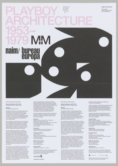 Flyer, Playboy Architecture 1953-1979 (Invitation), 2012 | hbns | Visits | Collection of Cooper Hewitt, Smithsonian Design Museum