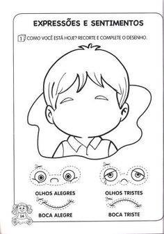 Emotions Game, Feelings, Kids Room Shelves, Face Template, Learn Portuguese, School Worksheets, English Vocabulary Words, Sad Faces, Social Emotional Learning