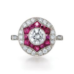 So awesome! Kwiat diamond + ruby #engagement #ring