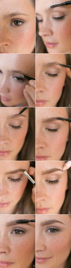 Natural Brow Beauty Tutorial via oncewed.com