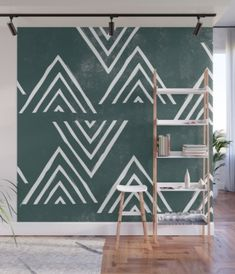 The Mountain Top - Forest Wall Mural by Amber Barkley - X Removable Wall Murals, Fabric Panels, Decor Styles, Vibrant Colors, Wall Decor, Kids Rugs, House Design, Wallpaper, Prints