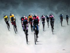 """Peloton Series"" by Harold Braul at Crescent Hill Gallery"