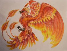 Shadow Phoenix Tattoo Design by TsukinoUsagi1995 on deviantART