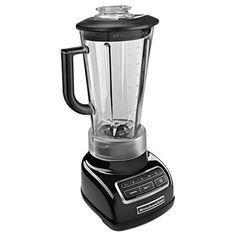 KitchenAid KSB1575OB 5-Speed Diamond Blender with 60-Ounce BPA-Free Pitcher - Onyx Black #whitediamonds