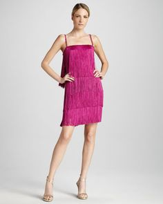 Fringed Cocktail Dress - Neiman Marcus