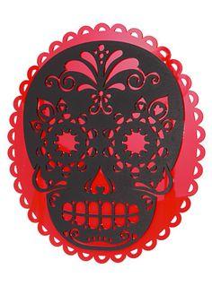 Sweet Sugar Skull Wall Plaque
