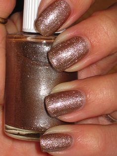 Swing Baby  -a fun and different taupe brown combo of glass fleck with soft glitter.