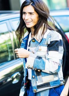 This patchwork-denim jacket is totally cool.