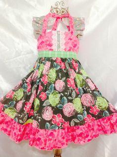 Girls Royal Ellie Halter Dress Size 6 Handmade; Everyday Use 100% cotton #Handmade #Everyday