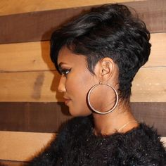 Icy Short Pixie Cut - 60 Cute Short Pixie Haircuts – Femininity and Practicality - The Trending Hairstyle Cute Hairstyles For Short Hair, My Hairstyle, Curly Hair Styles, Natural Hair Styles, Short Sassy Hair, Black Curly Hair, Short Hair Cuts, Love Hair, Great Hair