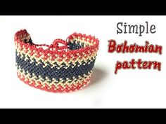 Very simple Boho style Macrame bracelet tutorial for men - Hướng dẫn làm. Macrame Knots, Macrame Jewelry, Macrame Bracelets, Diy Jewelry, Armband Tutorial, Macrame Bracelet Tutorial, Simple Bracelets, Bracelets For Men, Stil Inspiration