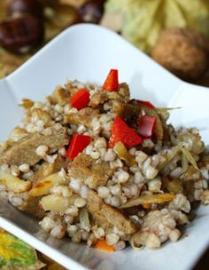 Hajdina pirított zöldséggel, szejtánnal Seitan, Tofu, Grains, Rice, Seeds, Laughter, Jim Rice, Korn