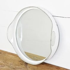 LARGE Repurposed Tray Mirror – Farmhouse Fresh Home® Farmhouse Mirrors, Antique Farmhouse, Farmhouse Chic, Mirror Tray, Metal Mirror, Round Wall Mirror, Shabby Chic Homes, Shabby Chic Decor, Living Room Mirrors