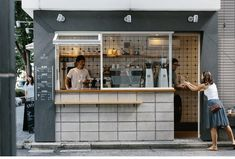 About Life Coffee Brewers Tokyo Shutter Street Specialty Coffee - Detailed pix gallery - Food truck design? Small Coffee Shop, Coffee Shop Design, H Design, Cafe Design, Bagdad Cafe, Café Bistro, Deco Cafe, Cafe Concept, Coffee Stands