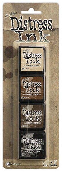 Craftie-Charlie: Ranger Tim Holtz Mini Distress Ink Pad Kit 3 - TDPK40330