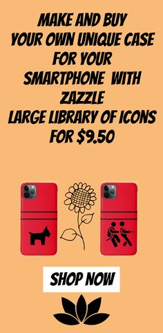 Make and buy  your own unique Case for your smartphone  with Zazzle  large library of Icons for $9.50 Make Your Own Case, How To Make, Apple Iphone, 50th, Smartphone, Iphone Cases, Icons, Unique, Stuff To Buy