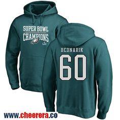 797c4cd50  60 Chuck Bednarik Green Nike NFL Super Bowl LII Champions Philadelphia  Eagles Pullover Hoodie