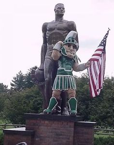 Thank you USA Military & veterans from the Michigan State #Spartans