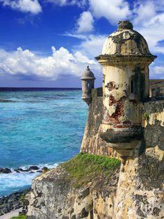 Watchtower, Fort San Felipe Del Morro, San Juan, Puerto Rico, USA, Caribbean Photographic Print by Miva Stock at AllPosters.com