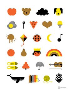 Such a sweet alphabet poster from The Indigo Bunting