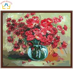 Cheap painting on glass bottles, Buy Quality painting acrylic on canvas directly from China painting tuscan Suppliers:                size:40x50cm(16x20inch)    Pay attention: 1.this one diy oil painting by numbers,not a finished