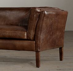 Restoration Hardware   Black Leather Sorensen Sofa | Lower Manhattan,  Restoration Hardware And Apartment Therapy