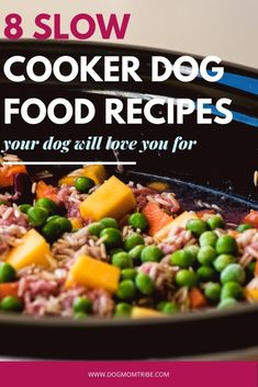 crockpot recipes Ready to ditch the dry dog food? These easy homemade dog food crockpot recipes healthy for your furry friend and easy for you to make. Make Dog Food, Puppy Food, Dry Dog Food, Best Food For Dogs, Pet Food, Best Natural Dog Food, Human Food For Dogs, Dog Treat Recipes, Healthy Dog Treats