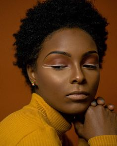 See this Instagram photo by @_tyneceallen • Photo by: @rebecca.jay  Makeup: @anti_gorgeous || Beauty. Curly hair. Twa. Short curly hair. Short natural hair.
