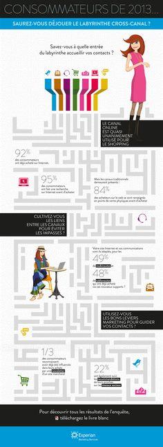 #Consommateurs de 2013 : saurez-vous déjouer le labyrinthe du cross-canal ? #CrossCanal #Infographie