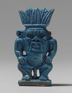 Ancient Egyptian faience figure of Bes. (Metropolitan Museum of Art)