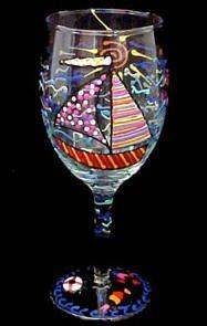 Sailboat Regatta Design - Hand Painted - Wine Glass - 8 oz.. by BELLISSIMO!. $24.95. Hand Painted - Wine Glass - 8 oz. 75 inches tallOnce upon a time you dreamt of owning a beautiful sailboat and sailing the high seas. - 6. Whether you got your wish or not, you will fall fast for these fanciful hand painted sailing ships. Hand Painted - Wine Glass - 8 oz. - 6.75 inches tallOnce upon a time you dreamt of owning a beautiful sailboat and sailing the high seas.  Wh...