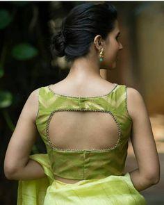 55 Latest Pattu saree blouse back neck designs Simple Blouse Designs, Saree Blouse Neck Designs, Stylish Blouse Design, Designer Blouse Patterns, Sparkle, India, Green Blouse, Boat Neck, Silk Sarees