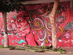 One of many colorful, surprising murals in Lima, Peru's Barranco district.  #graffiti #urban art