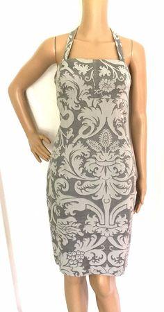 Luca Luca Grey Jacquard Print Halter Dress Size 44/US 10 -  EUC #LucaLuca #halterdress #Casual