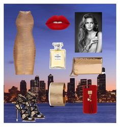"""A night out🌃🏙"" by artaaa ❤ liked on Polyvore featuring Hervé Léger, Alejandro Ingelmo, Jimmy Choo, Chanel, Panacea, Henri Bendel and Lime Crime"