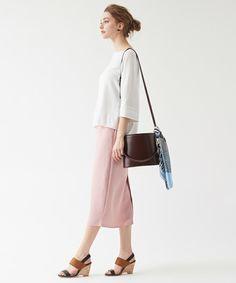 titivate(ティティベイト)の「ミディアム丈タイトスカート(スカート)」|ピンク